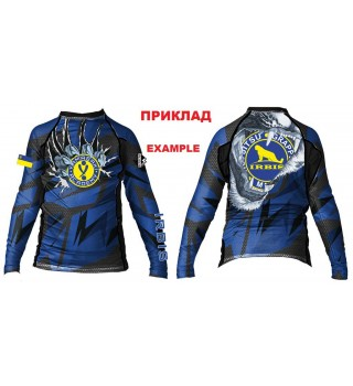 Compression rashguard for children with long sleeves