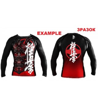 Compression rashguard for men with long sleeves