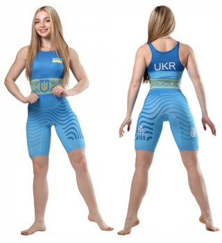 Women's club wrestling singlet with a pattern