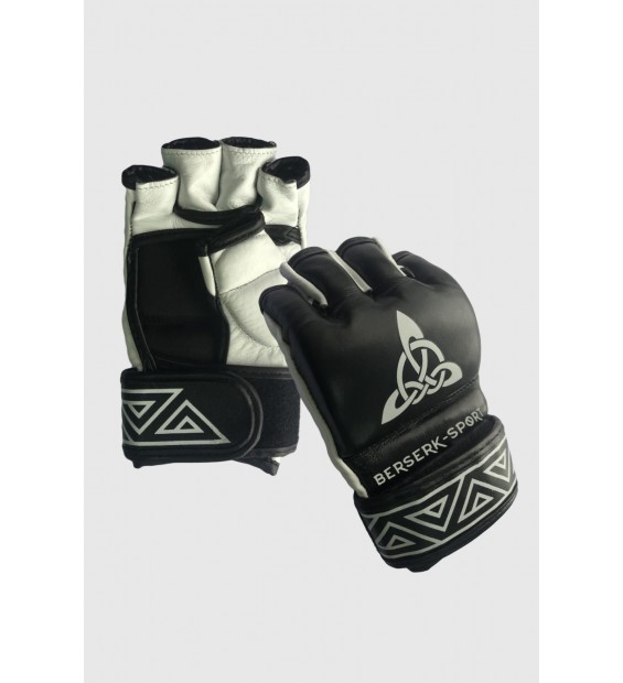 Gloves Berserk Scandi-fight 4 oz black/white (Leather)