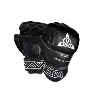 Gloves Berserk Scandi-fight 7 oz black/white (Leather)