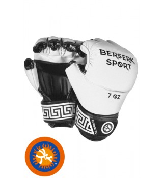 Gloves Berserk Full for Pankration approved UWW 7 oz white (Leather)