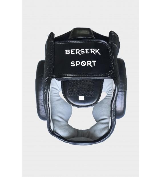 Headgear Berserk sport Scandi-fight (leather) black