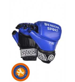 Gloves BERSERK FULL for Pankration approved UWW 7 oz blue (Leather)