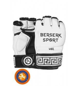 Gloves Berserk Traditional for Pankration approved UWW 4 oz white (vinyl)