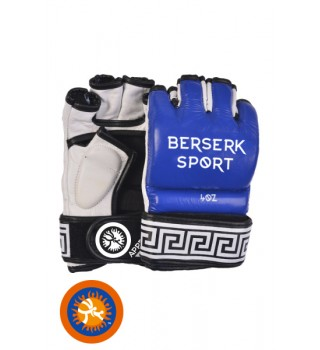 Gloves Berserk Traditional for Pankration approved UWW 4 oz blue (Leather)