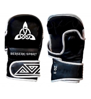 Gloves BERSERK NORDIC-fight 6 oz black/white (Leather)