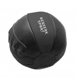 Medicine Ball Berserk leather black 1 kg
