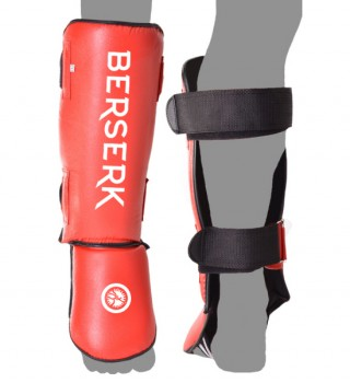 Shinguards Berserk (Imitation leather)  red