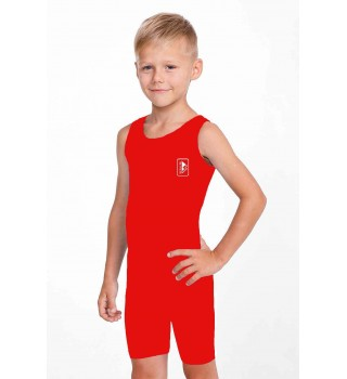 Singlet Berserk Wrestling basic Kids red