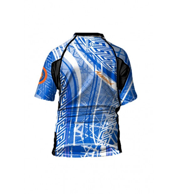 Rashguard Berserk for Pankration Approved UWW Kids blue