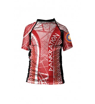 Rashguard Berserk for Pankration Approved UWW Kids red