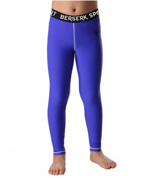 Compression pants Kids  Berserk Triquetra blue