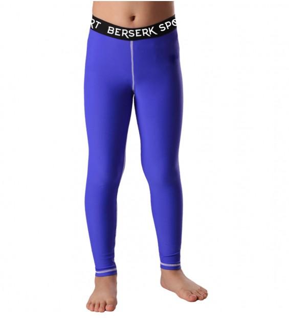 Compression pants Kids  Berserk Triquetra blue