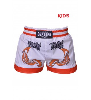 Shorts Berserk Muay Thai Fighter kids white