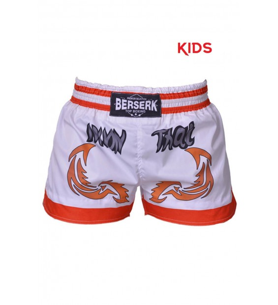 Shorts Berserk Muay Thai Fighter kids white