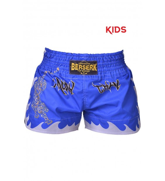 Shorts Berserk Muay Thai Fighter kids blue