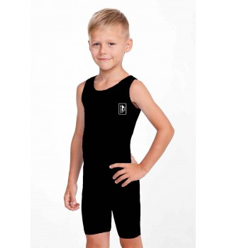 Club wrestling singlet for children monophonic