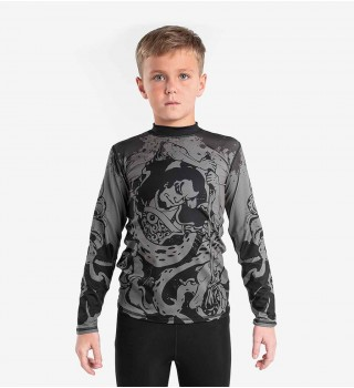 Rashguard Berserk Samuray kids grey