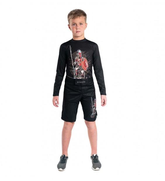 Rashguard Berserk Sparta kids black