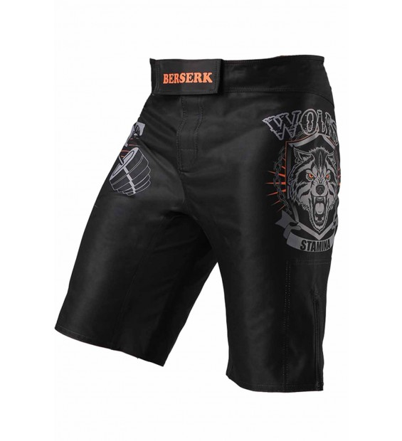 Fight shorts Berserk Wolfs Stamina kids black