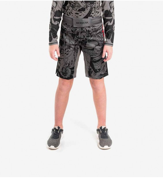 Fight shorts Berserk Samuray kids grey
