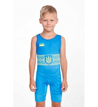 Singlet Berserk Wrestler UKR approved UWW Kids blue