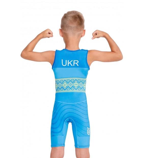 Singlet Berserk Wrestler UKR approved UWW Kids blue