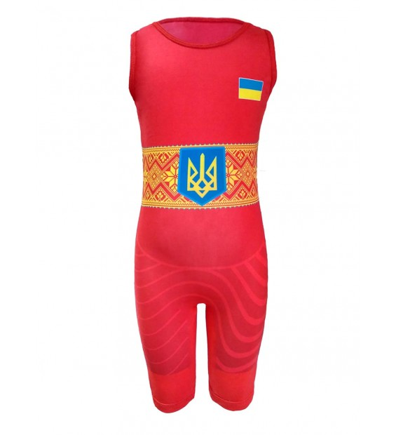 Singlet Berserk Wrestler UKR approved UWW Kids red