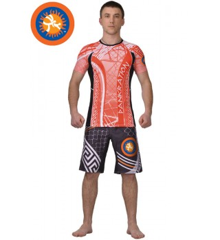 Rashguard Pankration Berserk 3D Approved UWW red