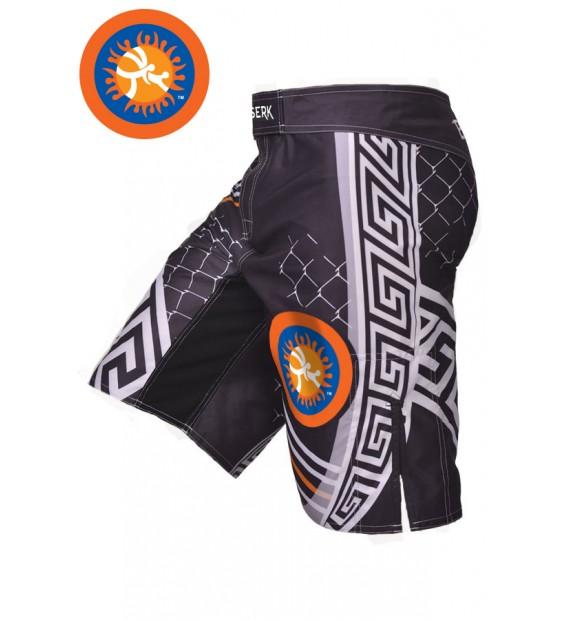 Fight shorts MMA Berserk Pankration 3D Approved UWW black