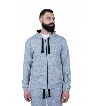 Hoodie Berserk Knitted Sport melange man