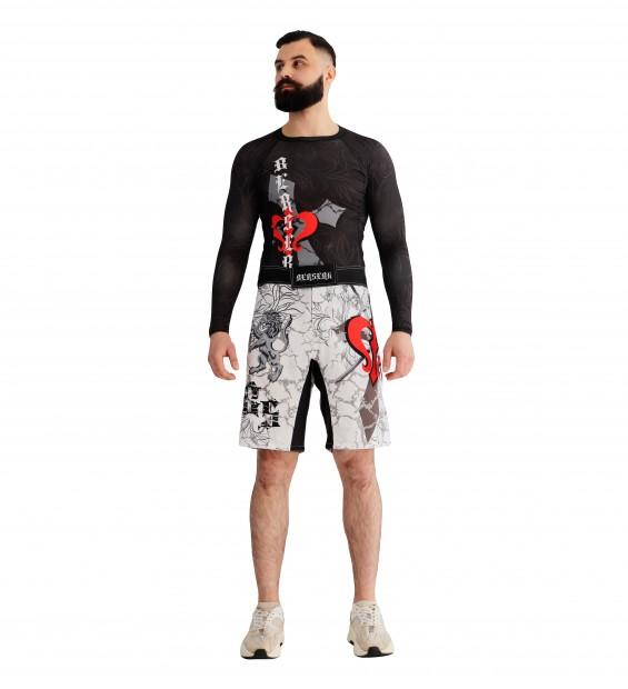 Fight shorts ММА Berserk Warrior Spirit white