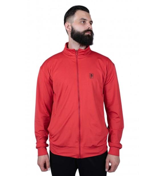 Zipped sweater Berserk Camp red