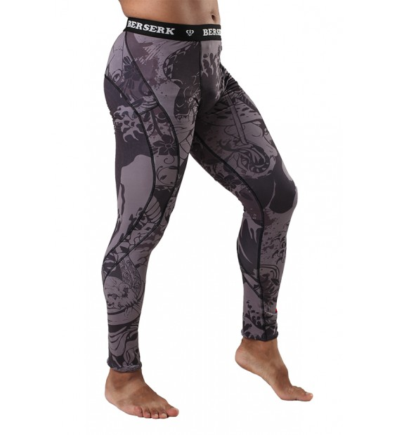 Compression Pants Berserk Samuray black