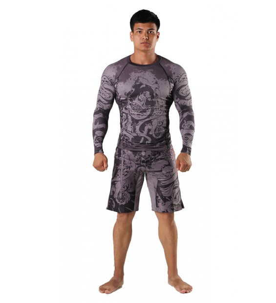 Fight shorts Berserk Samuray grey