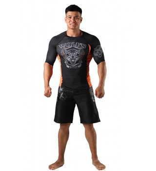 Fight shorts Berserk Wolfs Stamina black