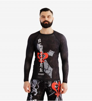Rashguard MMA  Berserk Warrior Spirit  black
