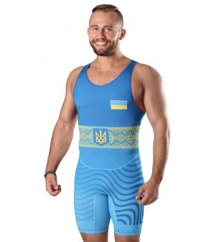 Singlet  Wrestler UKR approved UWW blue