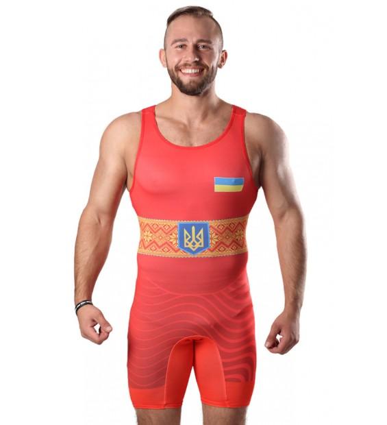 Singlet Wrestler UKR approved UWW red