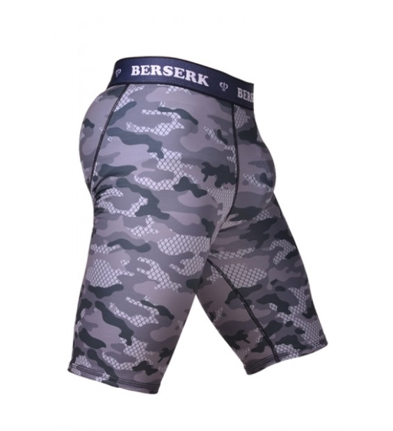 Compression Shorts Berserk Tactical Force camo grey