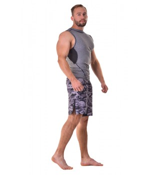 Fight shorts Berserk Tactical Force camo grey