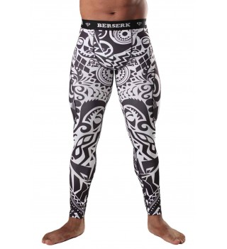 Compression Pants BERSERK AFRICAN TATTOO black