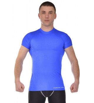 Compression T-shirt BERSERK MARTIAL FIT blue
