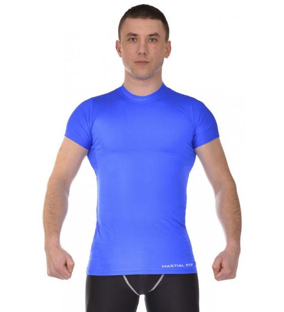 Compression T-shirt BERSERK MARTIAL FIT blue