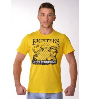 T-shirt Berserk Ukraine Fighter yellow