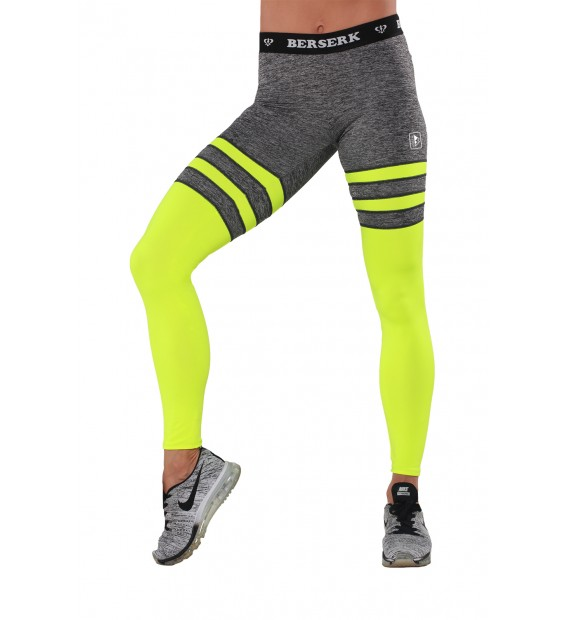 Leggings BERSERK INTENSITY melange/yellow
