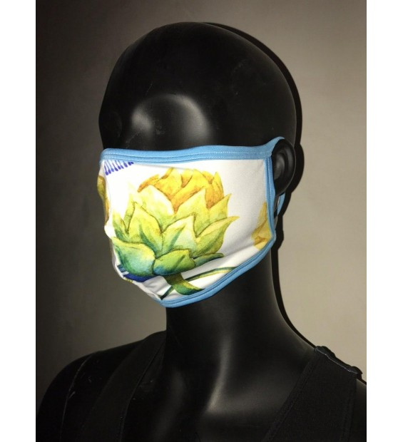 Women's mask two layers of fabric with a pocket