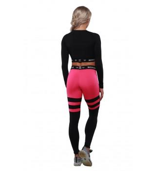 Leggings BERSERK INTENSITY black/pink