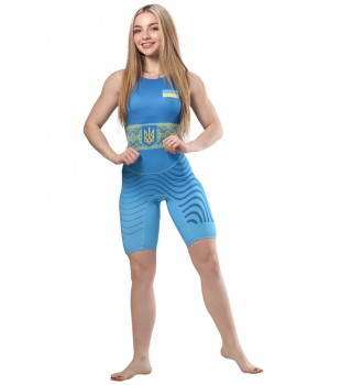 Singlet WRESTLER WOMENS APPROVED UWW blue
